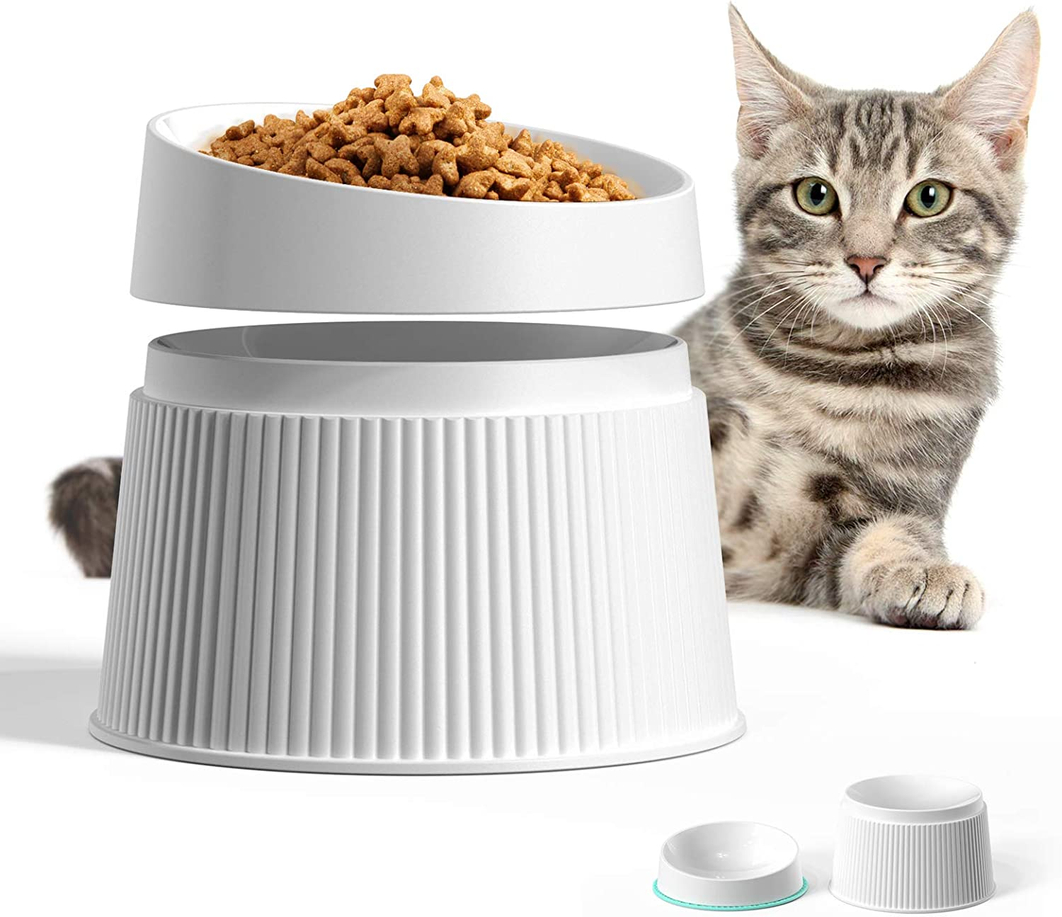 uahpet Elevated Ranking TOP17 Cat Food Bowl Raised It is very popular Super Dishes Widen
