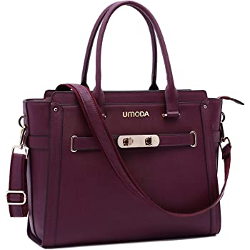 Laptop Bag for Women,15.6 Inch Multi Pocket Padded Laptop Tote Bag,Computer Bags for Women,Burgundy