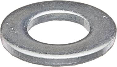 Steel Flat Washer, Zinc Plated Finish, DIN 125, Metric, M10 Screw Size, 10.5 mm ID, 20 mm OD, 2 mm Thick (Pack of 100)