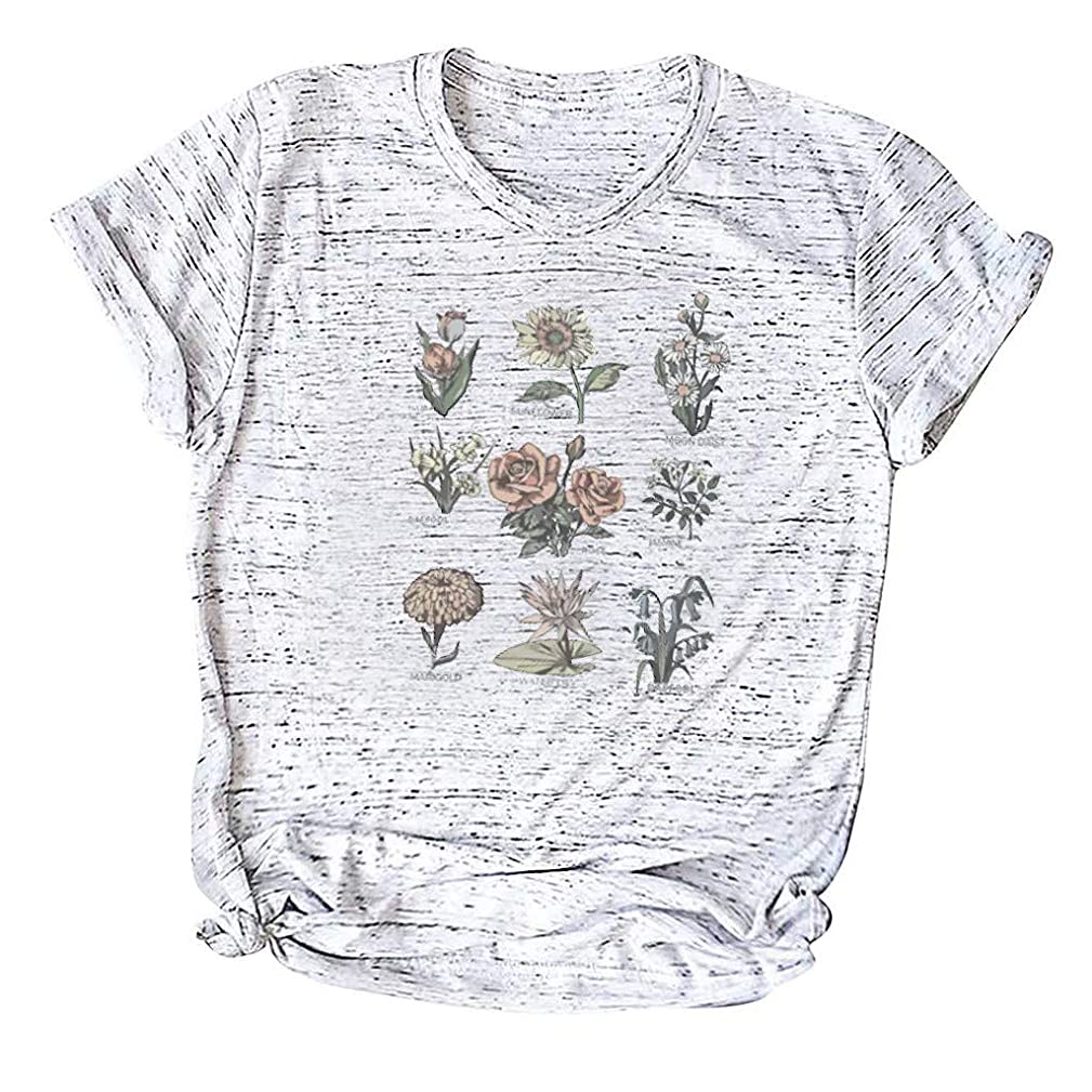Amlaiworld Fashion Women Plus Size T Shirt Summer Casual Shirt O-Neck Short Sleeve Tee Shirt Cotton Tee Top Tunic Shirt