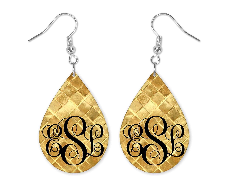 Dedication Gold Tiles Earrings - 70% OFF Outlet drop Drop Tear Rain