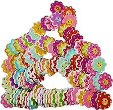 gazechimp 100pcs Colorido 8 Pétalas Forma Botões De Madeira Para Artesanato De Costura 20mm