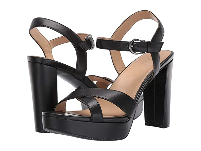 1940s Style Shoes, 40s Shoes Naturalizer Mia Black Leather Womens Shoes $75.00 AT vintagedancer.com