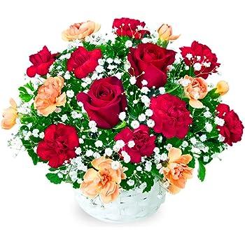 【誕生日フラワーギフト】赤バラのアレンジメント ya00-512048 花キューピット 花 誕生日 お祝い 記念日 プレゼント 生花 祝花 妻 夫 父親 母親 彼女 彼氏 友達