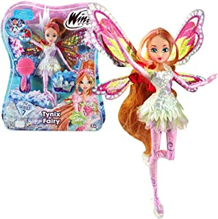 Winx Club - Tynix Fairy Doll - Flora 28cm with Magic Robe by Witty Toys
