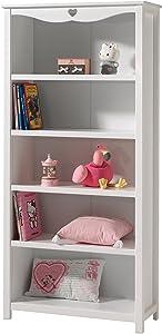 Vipack AMBI9014 Amori Libreria in legno, colore: bianco, dimensioni: 190 x 90 x 40 cm
