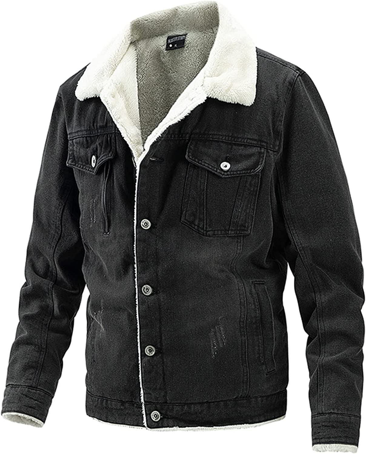 Mens Max 71% OFF Sherpa Jean Trucker Jacket Men Casual Animer and price revision Vintage Jack