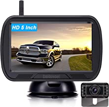 DoHonest HD Digital Wireless Backup Camera System 5 Inch TFT Monitor for Trucks,Cars,SUVs,Pickups,Vans,Campers Front/Rear ... photo
