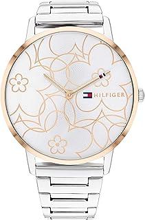 ساعة اليكس للنساء من تومي هيلفجر بمينا ابيض وفضي - 1782368