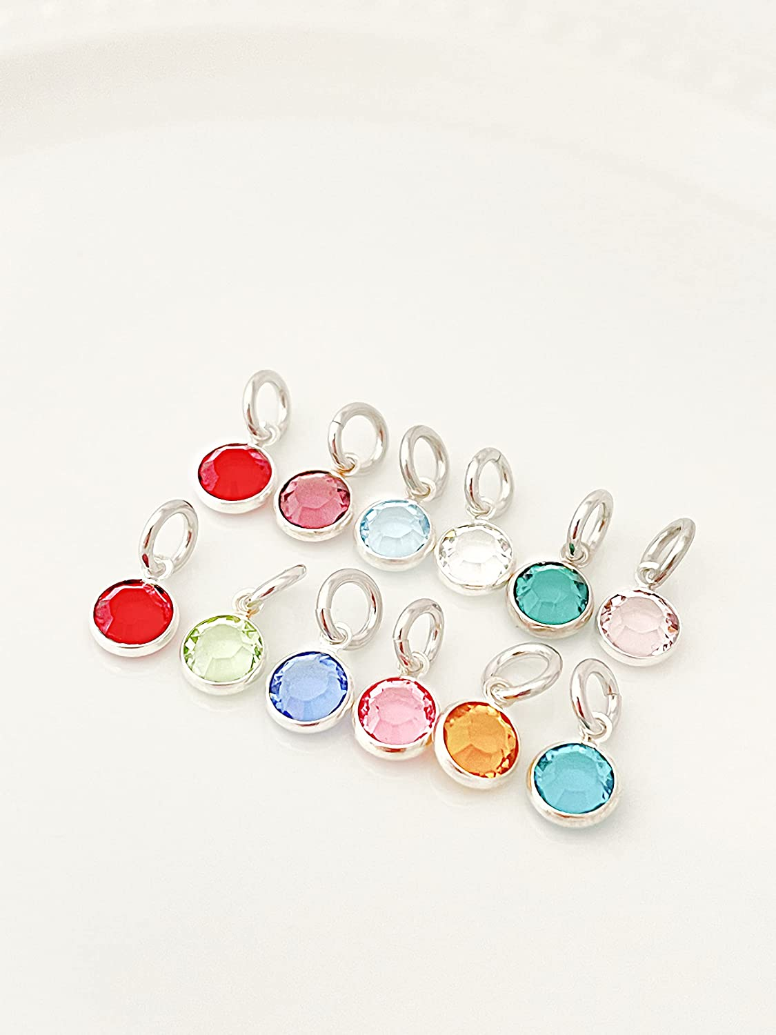Birthstone 67% OFF of fixed price Charm With Jump Ring - Swaro 6mm Add Round On Max 43% OFF