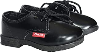 BATA Boys Black School Shoes