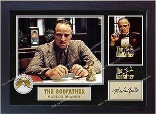 S&E DESING The Godfather Signed Marlon Brando Autograph Poster Print Photo Framed