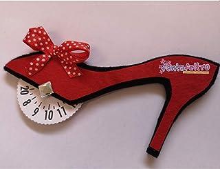 Disco Orario per auto Scarpa con Tacco decoltè rossa- idea regalo simpatica uomo donna