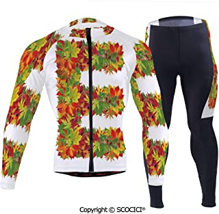 Outdoor Bicycle Rider Bicycle Suit Bicycle Wear,Chestnut Maple Leaves Natural Oa