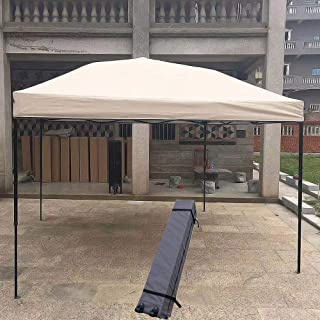 Gazebo Nfudishpu 10'x10' Instant Canopy Pop Up Canopy There are Rope, Nails Including Wheeled Carry Bag