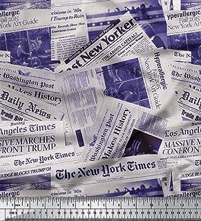 Soimoi Beige Anatra di Cotone Tessuto Zampa Cane Tessuto Decorato Stampato dal Metro 42 Pollici Larghi