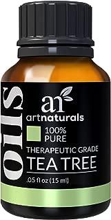 ArtNaturals 100% Pure Tea Tree Essential Oil - (.5 Fl Oz / 15ml) - Natural Premium Melaleuca Therapeutic Grade - Great with Soap and Shampoo, Face and Body Wash - Treatment for Acne, Lice