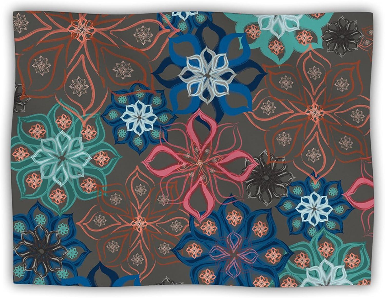 Kess InHouse Jolene Heckman Floral Arrangements Brown Flowers Dog Blanket, 60 by 50Inch