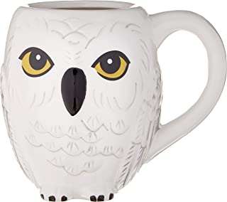 Silver Buffalo HP11833D Harry Potter Hogwarts Gold Crest Sparkles 3D Sculpted Ceramic Mug 20-ounces HR1595B