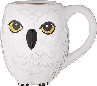 HARRY POTTER Hedwig 3D Sculpted Ceramic Mug, 20-Ounces, White