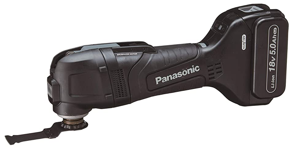フォージアトラス役に立たないパナソニック ブラシレスマルチツール 18V高容量5.0Ah電池パックセット ブラック EZ46A5LJ2G-B