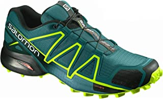 Salomon Men's Speedcross 4 Trail Running Shoes, Blue (Deep Lagoon/Acid Lime/Reflecting Pond)