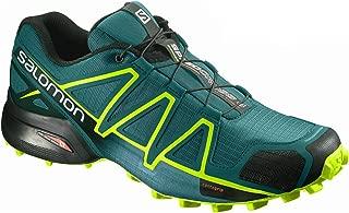 Salomon Men's Speedcross 4 Trail Running Shoes, Blue (Deep Lagoon/Acid Lime/Reflecting Pond)