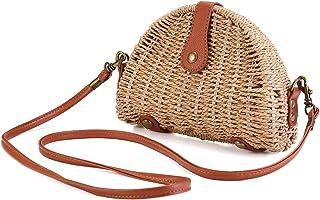 6218b9bcace Crossbody Straw Bag, JOSEKO Womens Straw Handbag Shoulder Bag for Beach  Travel and Everyday Use