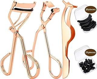Yaomiao Eyelash Makeup Tools Set, Include 3 Pieces Eyelash Curler, Mini Eyelash Curler, False Eyelashes Extension Tweezers...