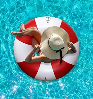 Ideas In Life Inflatable Pool Floats for Adults Funny - Giant Floaties for Adults Huge Pool Floats - Welcome Aboard Pool Floatie
