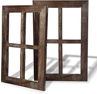 Rustic Wall Decor-Home Decor Window Barnwood Frames -Room Decor for Home or Outdoor, Not..
