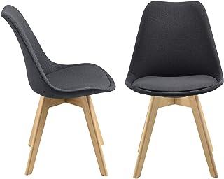 Set de 2 Sillas de diseño Frederikstad 97 x 42 x 48 cm Conjunto de Sillas de Comedor Silla de Cocina Patas de Haya Asiento...