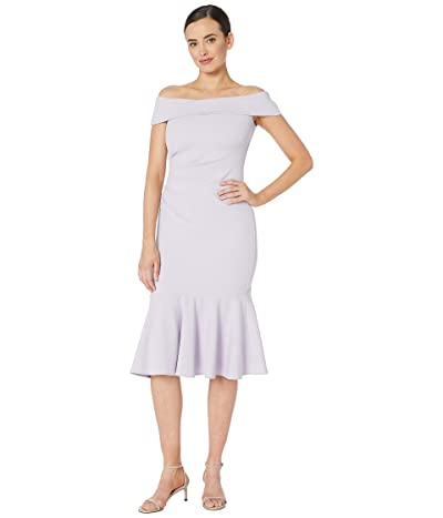 Vince Camuto Off the Shoulder Dress with Collar and Flounce (Lavender) Women