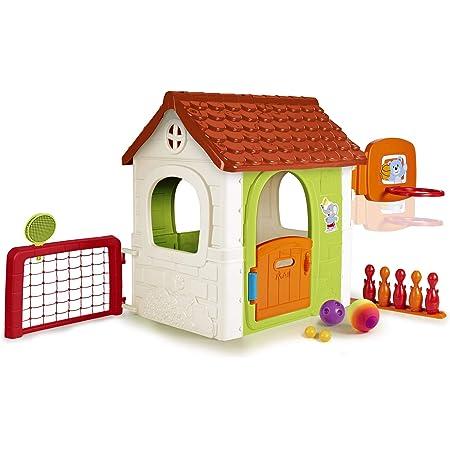 FEBER- Activity House 6in1, Casa Infantil a Partir de 3 años con Juegos incorporados (Famosa 800013048)
