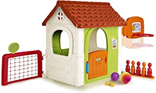 Feber - 6 in 1 Activity House, with extra games: tennis, football, basketball, bowling and bullseye, recommended for child...