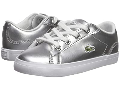 Lacoste Kids Lerond 119 4 CUI (Toddler/Little Kid) (Silver/White) Girl