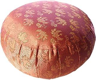 ヨガ座布団、yogaクッション 「瞑想の座禅座布団兼用」日本製33cm, ピンク(鳳凰)