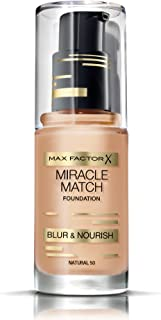 Max Factor Miracle Match Foundation, No. 50 Natural