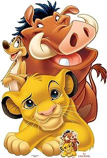 Star Cutouts Ltd SC1382 Lion King Group (Simba, Timon y Pumbaa) Recorte de cartón de tamaño Real, Aficionados, Amigos, col...