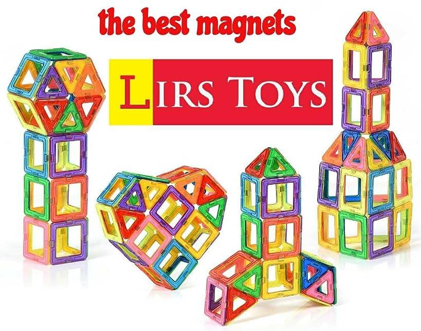 LIRS TOYS 30-pcs: Magnetic Blocks, Magnetic Tiles, Building Blocks Set for Kids/Toddlers Age 3+.Creativity & Educational Toys for Boys/Girls.Premium 3D.
