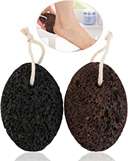 PIXNOR Pumice Stone Foot Scrubber Callus Remover Pack of 2