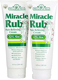 2- Pack Miracle Rub Pain Relieving Cream 8 ounce tube with 42% UltraAloe