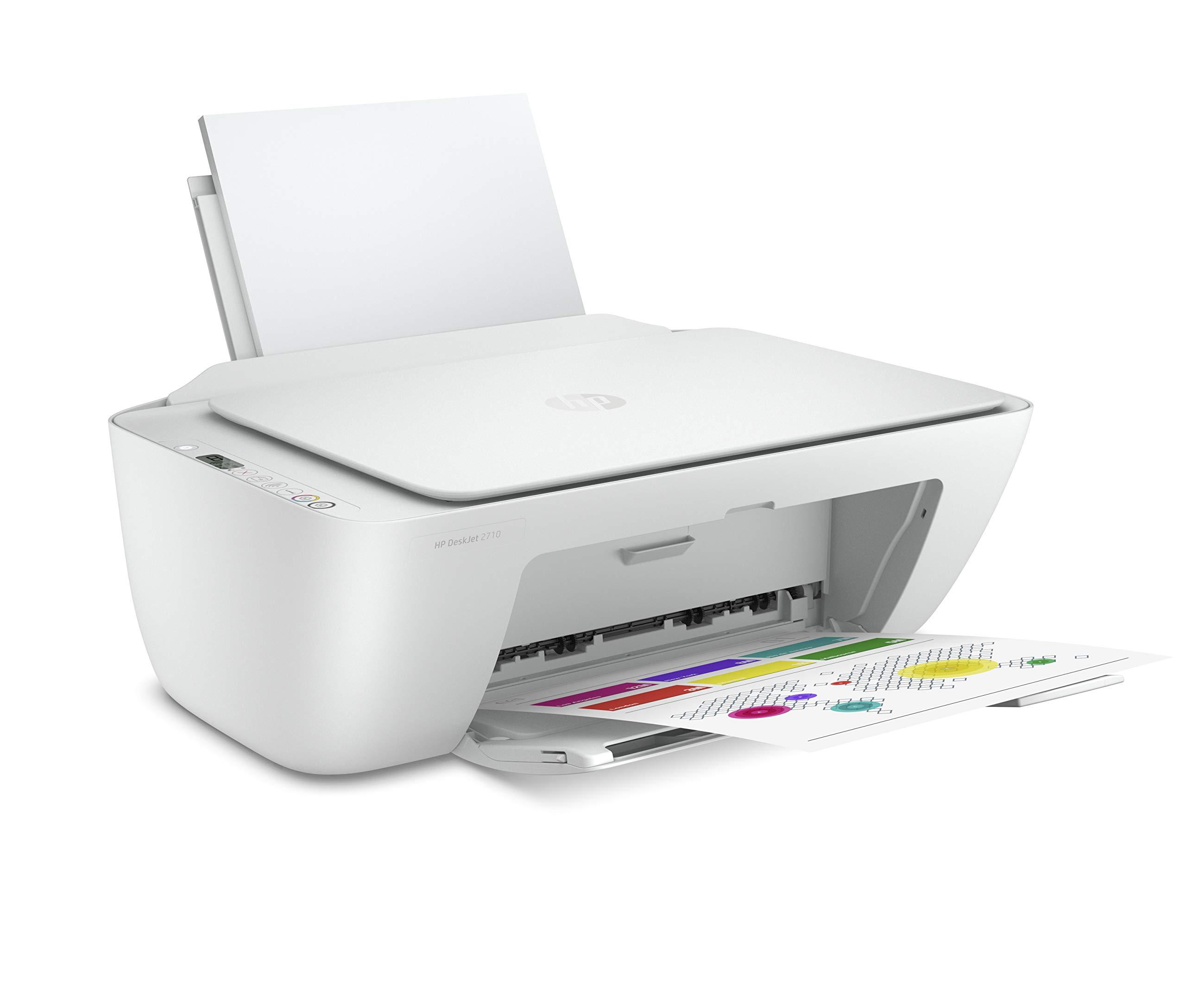 HP DeskJet 2710 Printer, All-in-One - Wireless, Print, Copy & Scan Inkjet  Printer: Buy Online at Best Price in UAE - Amazon.ae