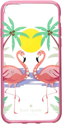 Jeweled Flamingos Phone Case for iPhone 8