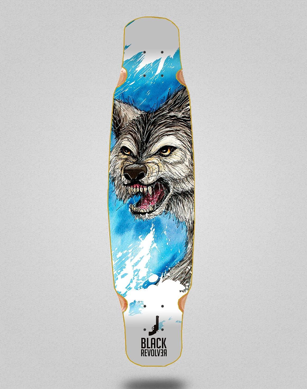 Sale price Black Revolver Skateboard Longboard Deck Max 75% OFF 46x9 Acril Bamboo Mix W