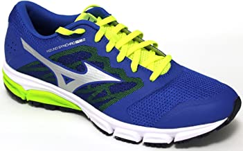 MIZUNO J1GE171804 Synchro MD Men's Running Shoes, Blue/Green/Silver