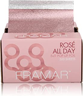 Framar Rosé All Day Pop Up Hair Foil, Aluminum Foil Sheets, Hair Foils For Highlighting - 500 Foil Sheets