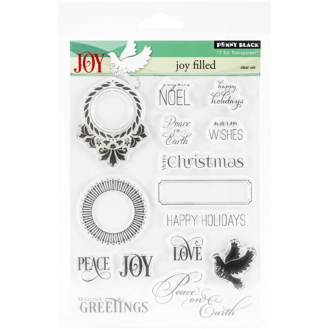 Penny Black 30-257 Decorative Rubber Stamps, Jolly Filled