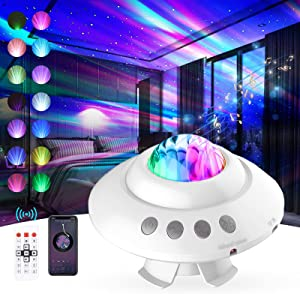 Star Projector Night Light, HAARAY Aurora Galaxy Light Projector with Remote Control,Music Speaker, Voice Control & Timer, Star Lights Projector for Bedroom/Party/Home Decor