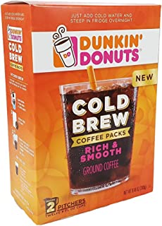 Dunkin' Donuts Cold Brew Coffee Packs 2 Boxes